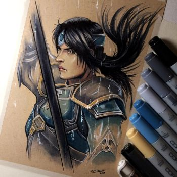 Zhao Yun - Dynasty Warriors Sketch by LethalChris