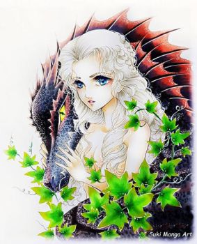 Daenerys and Drogon by Suki-Manga