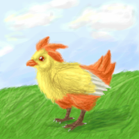 Realistic Combusken by CrazyRatty