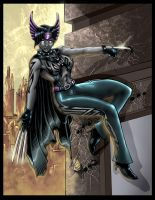 Colored: Huntress Noir by johnbecaro