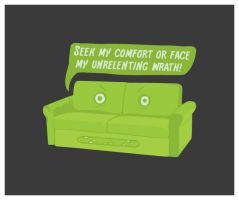 Wrath of the Sofa by LetsMakeArt