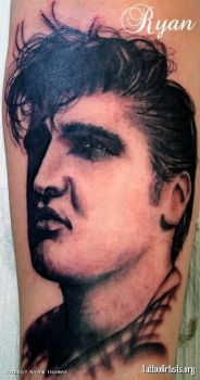 Elvis Tattoo by rtoriginals