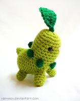 Chikorita Pokemon Amigurumi by yarnmon