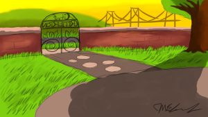 Critterton Park entry - sunset by JWthaMajestic