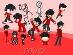 Different Tavo styles by magic277