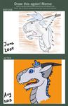 Draw this Again- Silver Dragon by TorpidTiger