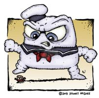 Stay Puft Marshmellow Man by stuartmcghee