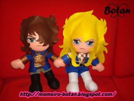 Lady Oscar and Andre' plush version by Momoiro-Botan