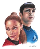 Uhura and Spock by msciuto