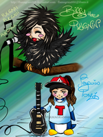 Pulgnini Bill and Penguin Tomi by Flamagram666