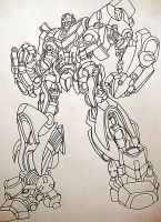 Bumblebee Lineart finished by Tabs2505