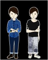Tegan and Sara Cartoon by vampirose