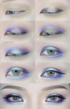 Green and Purple Eyes Makeup Tutorial by mollyeberwein