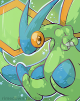 Shiny Flygon - Day 1094 by Seracfrost
