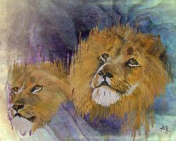 Lion Pair2 by ajhop