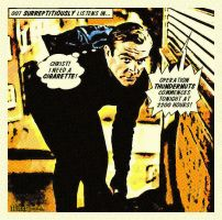 Another James Bond comix panel by PaulBaack