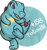#158 - Totodile by RaineyJ