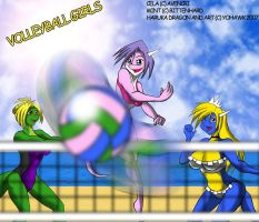 Volleyball girls by yohawk
