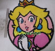 Peach Character Icon - SM3DW Beadsprite by VV-Weegee