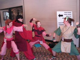 Ty Lee, Mai, Azula vs Toph by AnimeChick009