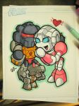 Commission - Arcee + Grimlock by MattMoylan
