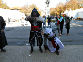 Ezio Auditore and Altair by Lynus-the-Porcupine