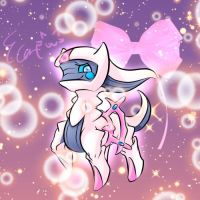 Cute Arceus in Fiary type by elyoncat