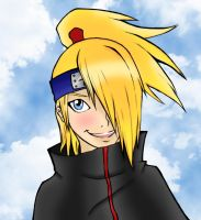 Deidara-Kun by Ruby-The-Ninja