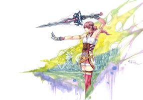 Final Fantasy 13-2 Serah Farron Sword Mode by Nick-Ian