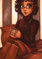 ACEO 99: 'DRINK ME'- Hot chocolate by Forunth