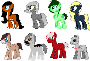 Mare and Stallion adoptables .:OPEN:. by CrimsonBurst