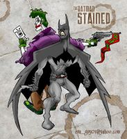 The Batman: Stained - colored by eva-guy01
