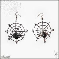 Spider's Web Earrings by BaziKotek