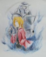 The Elric Brothers by PhoenixDown42