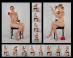 Body Reference Putting on Makeup Stock Pack by Danika-Stock