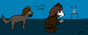 Masky And Toby wolfies by EyelessKatherine