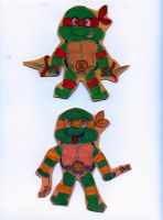 Raph and Mikey by BossZula