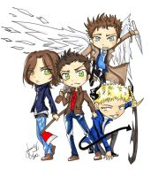 : :Chibi Supernatural: : by AnimeJanice