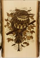 Woodburning - BioWorkz - Bee Eater by Stepher17