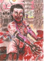 Mileena having lunch by DesertoMental