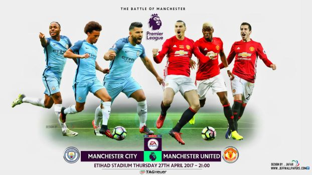 MANCHESTER CITY - MANCHESTER UNITED WALLPAPER by jafarjeef