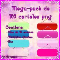 Mega pack de 100 carteles png by celesthe1