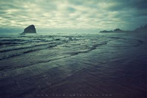 Haystack Rock by lepersabstain