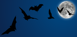 Halloween Vectors: Bats + Moon by arsgrafik