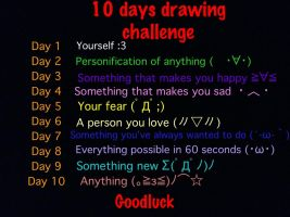 10 days drawing challenge by Lucifer0305