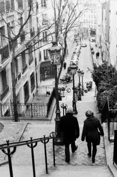 old couple in montmartre by jpderosnay