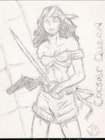 Recollection Sketch Cards: Corsair Queen by JasonShoemaker