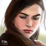 [Speed painting] Portrait Brown Haired Woman by PhanatPak