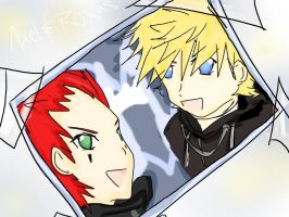 KHII:Axel and Roxas_PhotoMemo by Ozuma-Sister