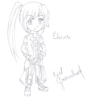 Grand Chase: Elesis Sketch by KielGreenleaf